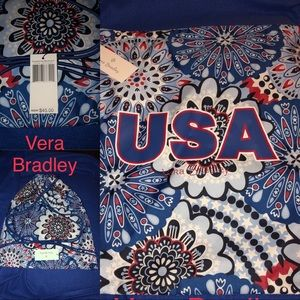 Vera Bradley USA RedWhite&Blue Drawstring Backpack
